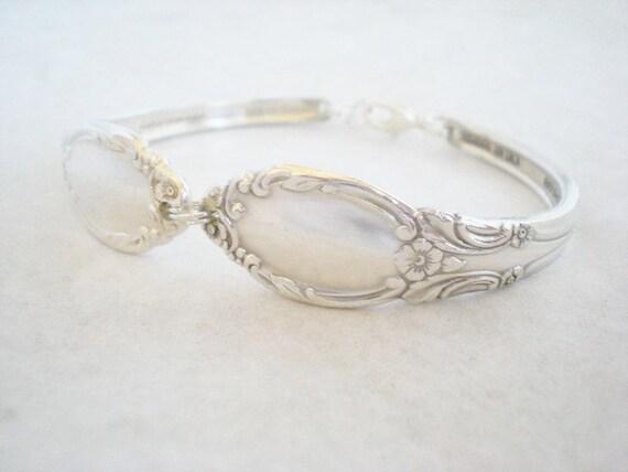 Vintage Jewelry, Silverware Spoon Bracelet, Vintage Silverware Jewelry, Vintage Wedding, Bridesmaid Jewelry CHATELAINE 1957