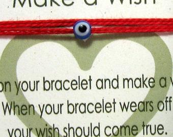 Red String Evil eye Bracelet Blue evil eye Red String Bracelet Red Kabbalah Protection Bracelet TINY Cute Minimalist Kabbalah Red String