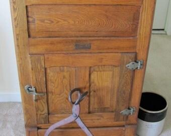 Vintage 1920s Oak Ice Box Refrigerator Storage & Vintage ice box | Etsy Aboutintivar.Com