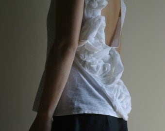 Linen Top by NervousWardrobe on Etsy