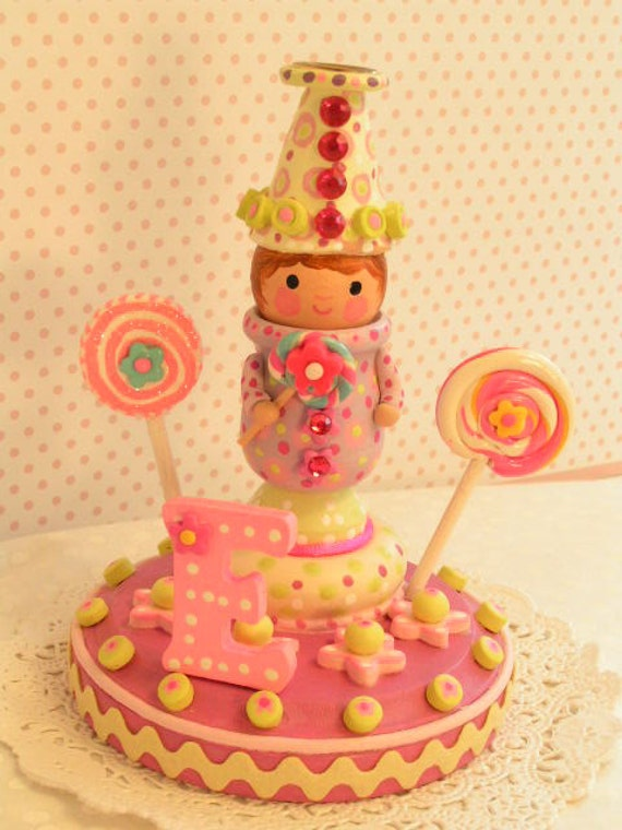 Available- Birthday Cake Topper,Candle Holder