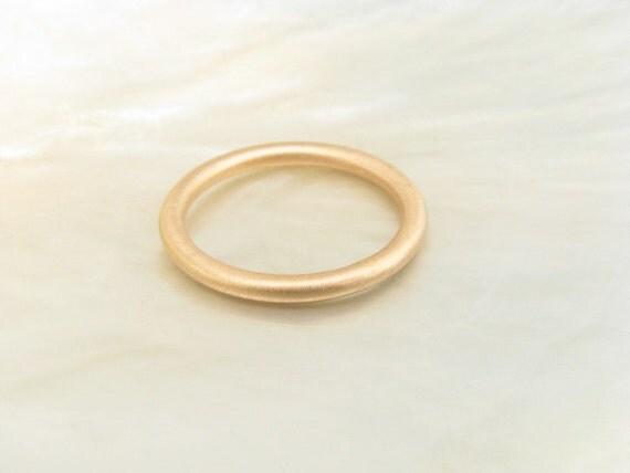 18k Rose Gold 2mm Full Round Wedding Band By RavensRefuge