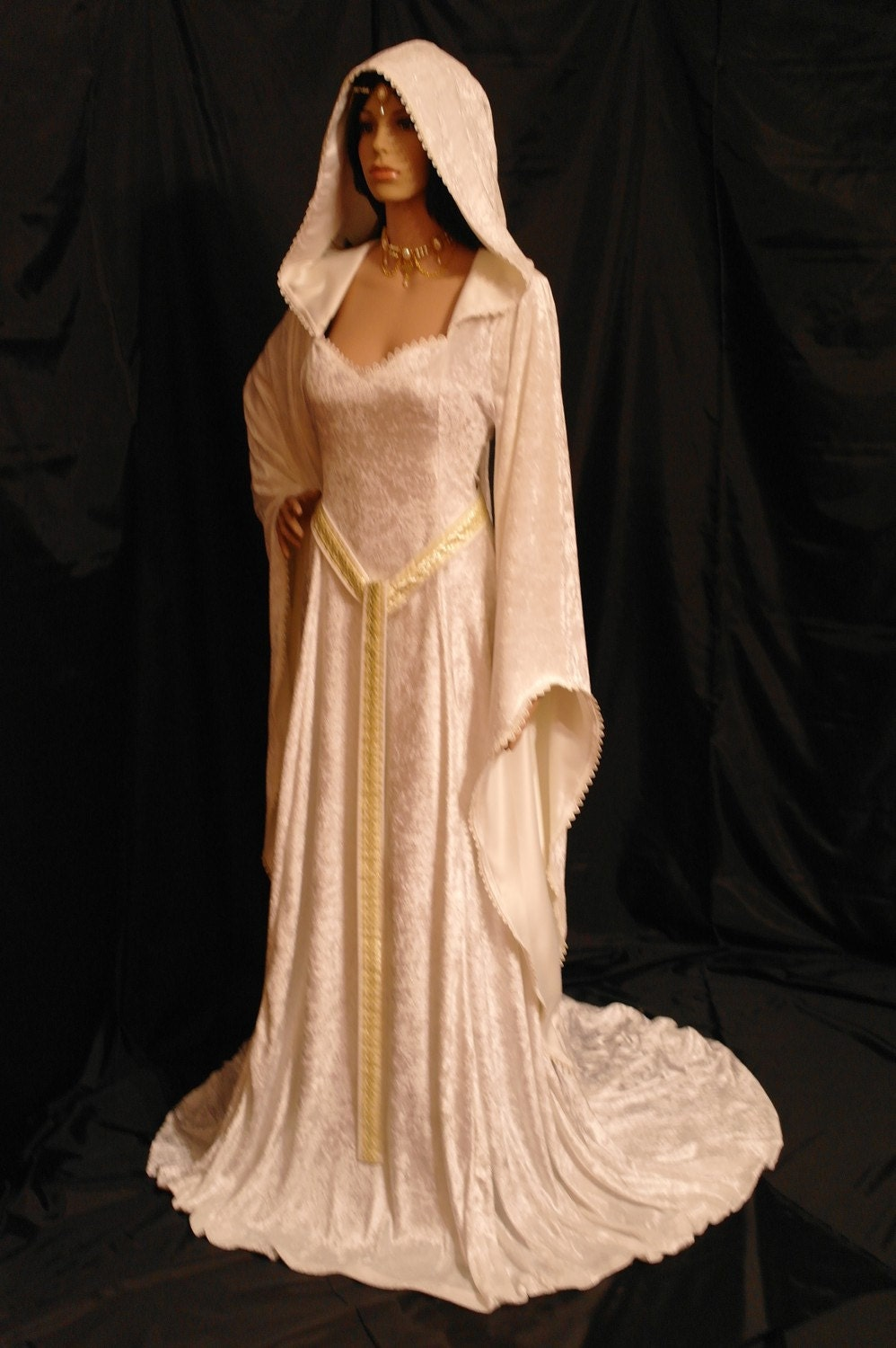 Elven dress pixie dress medieval dress by camelotcostumes for Elven inspired wedding dresses