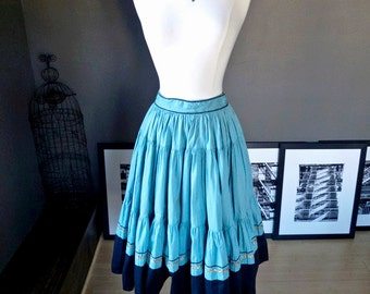 Goat rodeo... vintage circle skirt with lovely rick rack accents
