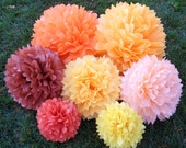 Tissue Paper Pom Pom Set of 30 - Wedding Decorations - Your Color Choice - Birthday Party, Baby Shower, Centerpieces