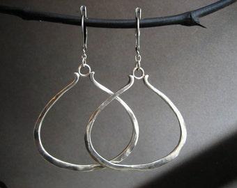Decanter hoop earrings - solid sterling silver