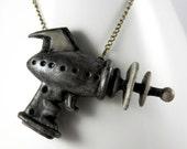 Alien Repellent - Retro - Ray Gun - Pendant Necklace - Jewelry - Handmade - Art Jewelry