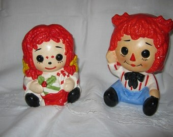 Raggedy Ann Doll/ Ceramic Music Box/ Mid Century Planter/ Made in Japan/ By Gatormom13 JUST REDUCED