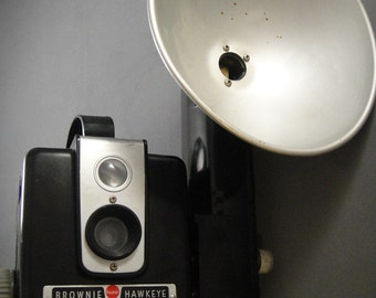 Kodak Brownie Hawkeye Camera with Flash Attachment
