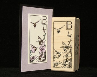 bees rubber stamp