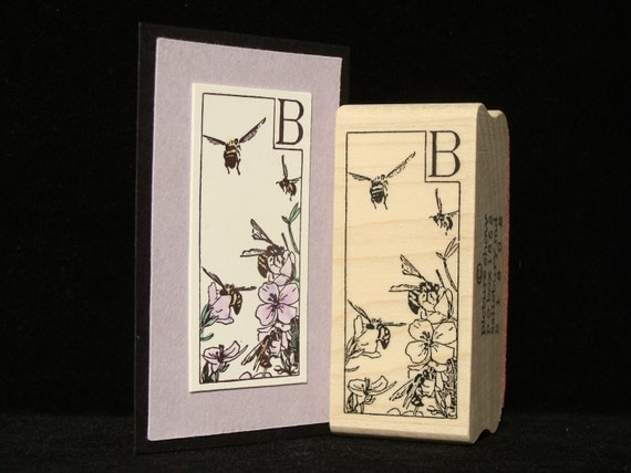 B is for bee rubber stamp