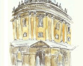 Oxford, Radcliffe Camera - Print from an original watercolor painting
