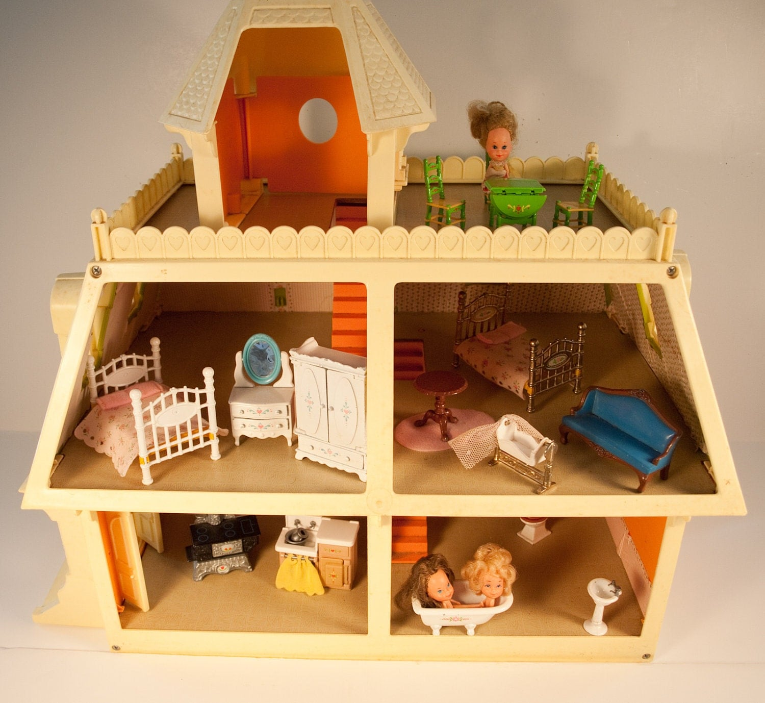 On Sale The Littles Family Doll House Furnished