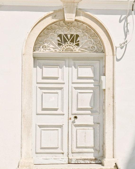Door Photography - Pale Blue Door - Light Hazy - Powdery White - Corfu Greece Photograph - Photos of Doors - Soft Romantic Wall Art