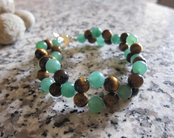 Good Luck Aventurine and Tigers Eye Bracelet