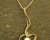 Australian Opal and 14K Gold Original Pendant on a 14K Gold Chain
