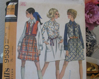 Vintage McCall's Pattern 9580 Dated 1968, Uncut