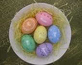 Set of 6 Custom Easter Eggs-  Personalized Easter Egg-  Hand-Painted Easter Eggs- Ceramic Easter Eggs-Spring Decor- Easter Eggs