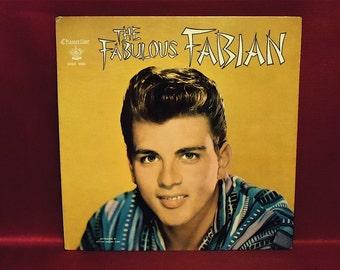 FABIAN - The Fabulous Fabian - 1959 Vintage Vinyl Record GATEfold Album...with Illustrated Booklet