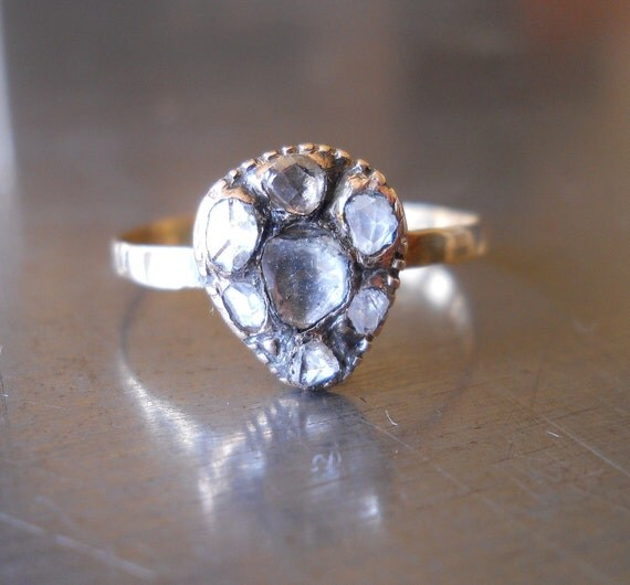 Antique Diamond Ring from 1800s -- FREE SHIPPING