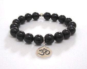 Chakra Bracelet Mala Beads Yogi Gifts for Everyone Teacher Om Buddhist Prayer Meditation Beads, Boho Inspirational Gifts Protection Jewelry