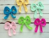 Bow Crochet Applique Pattern tutorial PDF ebook how to DIY /  trendy crochet pattern to applique in accessories - Instant DOWNLOAD
