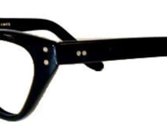 Vintage 1950s Black Cat Eye Eyeglass Frames Never Used