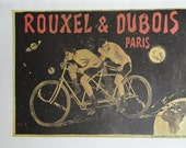 Vintage Bike Poster, Rouxel And Dubois Paris, Auto Mobiles Cycles Belgium Cycles, Vintage Bicycle Poster Print, Jack Rennert, USA