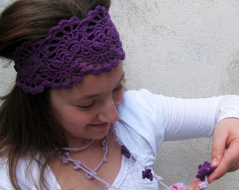 HAIRBAND - Hand Crochet Hairband - Bandana - HeadBand- Hair Wrap