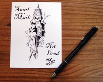 Snail Mail: Not Dead Yet postcard set, pack of 5