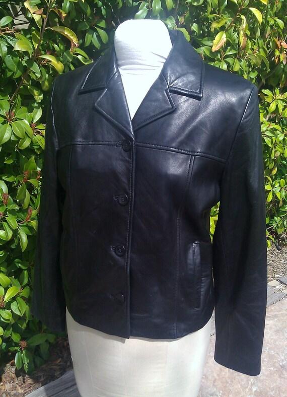 Leather Jacket /Black Blazer
