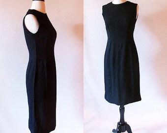 Vintage 60s Little black dress, Sleeveless Sheath Dress, Audrey Hepburn Dress