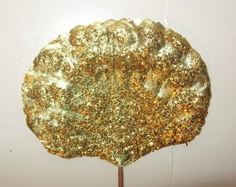 GOLD Christmas Wreath Craft Paper Leaves Millinery Flower Garland Foil Art Garland Decor Supplies CIJ