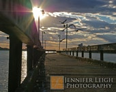 Belle Isle Fishing Pier Summer Sun - Detroit  - 8x10 Fine Art Print