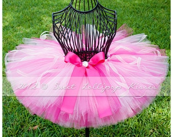 Pretty in Pink Tutu, READY TO SHIP in Size: 2-3T, Baby Girls Tutu, 1st Birthday Tutu, Pink Toddler Tutu, Hot Pink Tutu for Children Dress Up