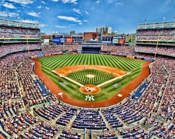 Yankee Stadium, Sports Photography, New York City, Color Photograph, Baseball, New York Yankees, Art Print, Derek Jeter, Wall Art, Man Cave