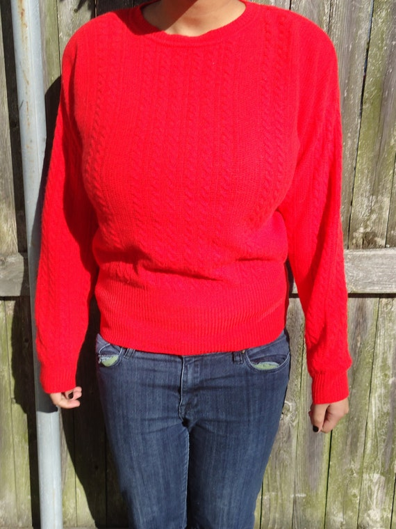Warm and luscious red sweater