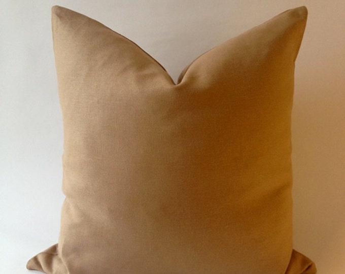 20x20 Cream Linen Decorative Throw Pillow Cover -European Linen -Invisible Zipper Closure- Cushion Cover