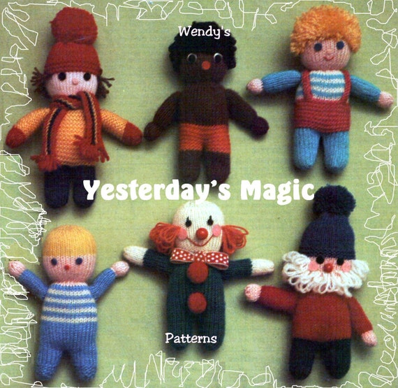 Cartoon Characters Knitting Patterns : Instant download pdf beginners easy knitting pattern to make