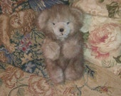 Vintage Handmade MINK Teddy Bear Jointed FREE SHIP