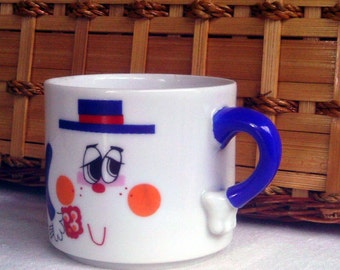 Mug People Coffee Cup by Phil Papel, 1970s Souvenir Mug, Porcelain by Papel Mug Person