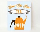 Tea Quote, Tea Typography,Tea Poster, Dining Room Decor, Kitchen Wall Art, Kitchen Art Print, Kitchen Art Decor,Home Office Decor, Tea Decor