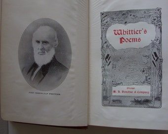 1857 Whittiers Poems  book