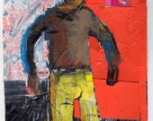 Original Mixed Media - 'Big Man' by Peter Mack