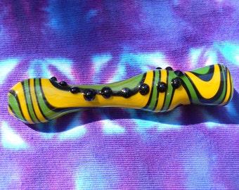 Glass Pipe / Chillum / Bat / One Hitter  - Inside Out - Lemon Lime