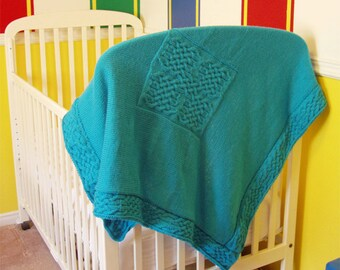 "Baby blanket (""Celtic Knotwork"") knitting pattern (PDF)"