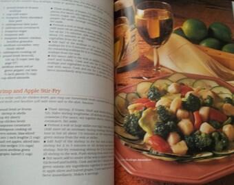 Book, Cookbook, Ephemera, Scrapbook Cooking, Better Homes and Gardens 1985 Stir fry Recipes Cookbook, Vintage stir fry cookbook