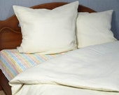Flax Bed Linen Set... King Size Flat Sheet and Two Pillowcases Eco