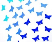 Handpunched butterflies in the shades of blue - confetti