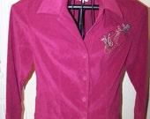 Womens Pretty Pink Vintage Blouse / Size Medium